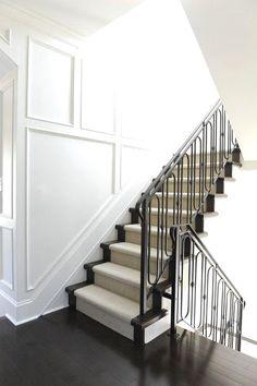 Iron railings, wains Iron railings, wainscoting