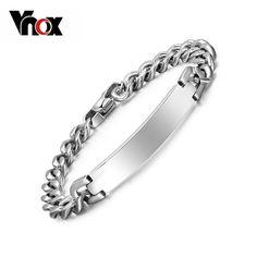 Free engraving 316l stainless steel bracelet bangle for Women / Men ID bracelets jewelry never rust