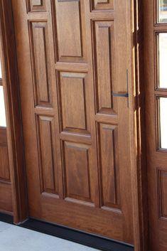 Exterior Mahogany Door with Sidelights How you can create areas that ready to accept elegance Door Design Images, Home Door Design, Bedroom Door Design, Door Design Interior, House Main Door Design, Main Entrance Door Design, Wooden Front Door Design, Wooden Front Doors, Single Main Door Designs