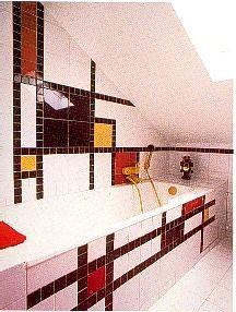 De Stijl tiled bathroom