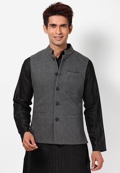 Monteil-26-Munero-Solid-Grey-Nehru-Jacket-2019-196263-1-product2.jpg (357×515)