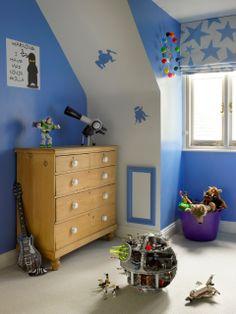 Twickenham Residence Boys Bedroom Blue Star Roman Blind Thin Flat Base Trim  Around Doors Moldings Diy Home