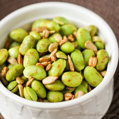 Chipotle Lime Edamame | DizzyBusyandHungry.com - Flavorful and healthy side dish…