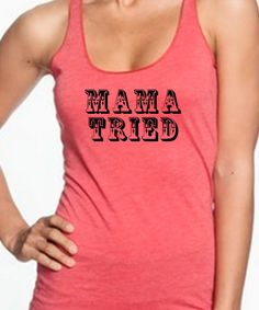 MAMA TRIED Miranda Lambert Tri-Blend Racerback Tank Country by SouthernCharme