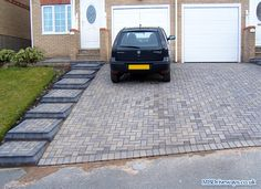 Block Paving, Driveways and Patio Pictures - Photo 39 Front Door Steps, Front Stairs, Front Walkway, Front Yard Fence, Patio Stairs, Front Porch, Front House Landscaping, Driveway Landscaping, Backyard Fences