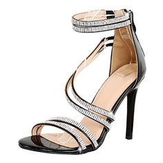 86f364b6f0 Guilty Shoes Women Sexy Metallic Ankle Strap Zip up Dress - Open Toe Party  Stiletto High Heel Sandals
