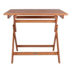 "SAFAVIEH Outdoor Living Kresler Folding Table - 35.4""x35.4""x29.5"" - On Sale - Overstock - 29593358 Wood Patio, Patio Dining, Butler, Outdoor Folding Table, Garden Furniture, Outdoor Furniture, 3 Piece Bistro Set, Foldable Table, Acacia Wood"
