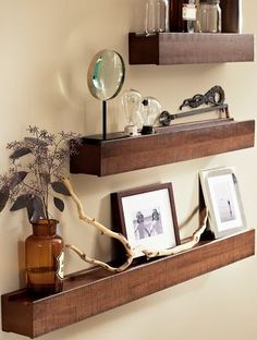 rustic ledge shelves » pottery barn i bet i could make something similar for a lot cheaper...