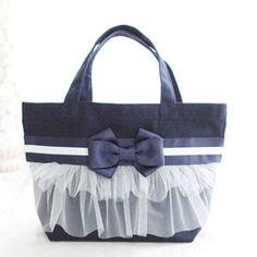フリリーバッグ 【ピンク×ホワイト】Frilly Bag by grace a vous|トートバッグ|Couturiere|ハンドメイド通販・販売のCreema