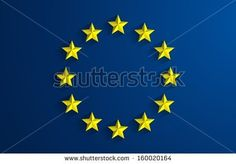 Creative Abstract Flag of European Union Backgroung - stock vector