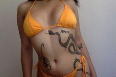 ♡jam through the pain babes♡ Neue Tattoos, Body Art Tattoos, Girl Tattoos, Dream Tattoos, Future Tattoos, Simplistic Tattoos, Snake Tattoo, Piercing Tattoo, Body Mods