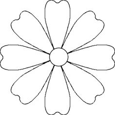 Flower Daisy 8 petal template by @Brittney James, A flower that could be a daisy or other simple 8 petal flower. It is made from a 8 petal symmetrical template.