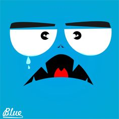 Blue Sad Emoticon