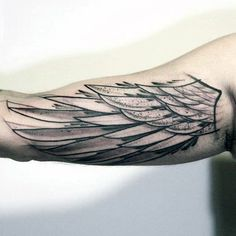 sketched-watercolor-angel-wing-mens-unique-inner-arm-bicep-tattoo.jpg (599×599)