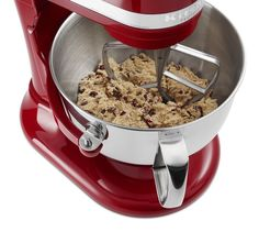 Make chocolate chip cookie dough and a whole lot more with this Empire Red Pro 600 KitchenAid stand mixer.