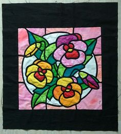 Stained Glass Quilt, Animal Quilts, Soutache Jewelry, Applique, Quilting, Couture, Type, Fabric, Flowers