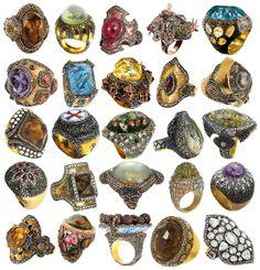 """Lord of the Rings"" Sevan Bıçakçı's Stunning One-of-a-Kind jewelry."