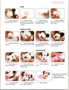 ARTESANATOS PASSO A PASSO: Baby disney em biscuit (minnie)