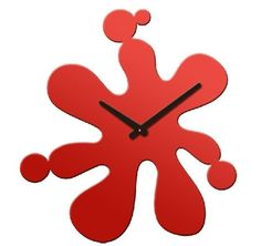 Water Splash Designed Silent Home Use Modern Wall clock