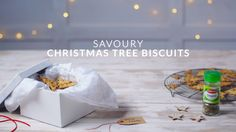 Who'd love these tasty savoury buscuits? Cut out various-sized Christmas trees to create your own festive forest, put them in pretty bags and tie with a ribbon.