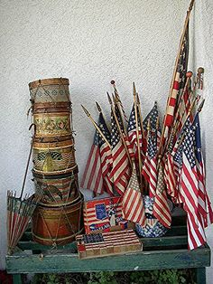Antique Patriotic display