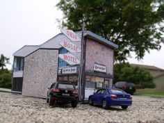 Ohio House Motel Paper Model In HO Scale - by Build Your Own Chicago