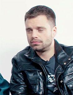 Sebastian Stan [ladbible] smile gif