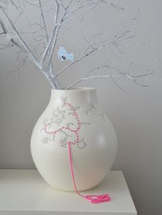 Like this idea: embroider the Hella Jongerius vase @Ikea