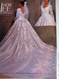 This is my wedding gown! 1996 Mori Lee..has a 15 ft train...