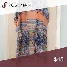 Fringe Kimono Full length sheer kimono with fringe bottom Jackets & Coats