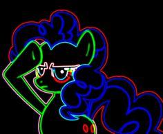 Neon Pinkie Pie Salutes