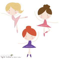 Little Ballerina Digital Clipart - Personal and Commercial Use - Scrapbooking…