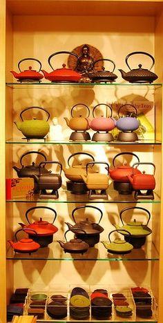 Teavana Cast Iron Tea Pots.... I Want!!!!!!!