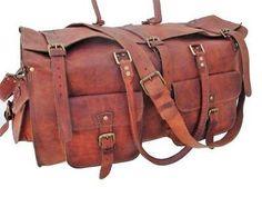 Handmade genuine Vintage Goat Leather Bag Men /& Women Parents Day Special Sale