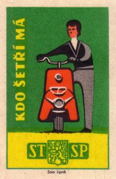 We heart this czechoslovakian matchbox label. 1960 For beautiful matchbox-inspired products (such as notebooks and DIY gift boxes) visit www. Vintage Packaging, Vintage Labels, Vintage Ads, Vintage Posters, Vintage Advertisements, Japanese Illustration, Graphic Design Illustration, Illustration Art, Vintage Fireworks