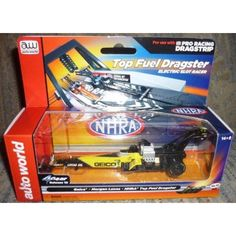 #SC253/48 Auto World NHRA Morgan Lucas Geico Top Fuel HO Electric Slot Car  NHRA Morgan Lucas Geico Top Fuel Dragster Electric Slot Car. Made by Auto World.Marked # SC253/48,2012.For ages 14 and up.Brand New in Factory Sealed Box.  Features : For ages 14 and up *For use with AW Pro Racing Dragstrip *No. 52,Release 10 *HO Scale