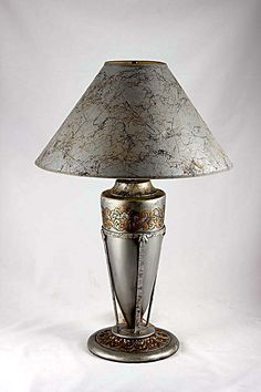 This unique and interesting lamp adds a light of vintage to a room