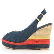 Mix Border Jute Wedge Sandals /PS3531/RANDA