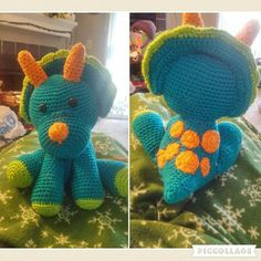 Triceratop - Crochet creation by Down Home Crochet