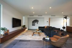 Contemporary living spaces created by Urbane Projects, an addition to a Federation style home Living Area, Living Spaces, Cottage Homes, Contemporary, Modern, Master Suite, The Originals, Bedroom, Architecture