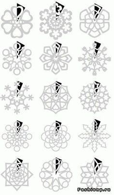 parenting 15 Ideas For Teachers During The Holidays Muster aus Papierschneeflocken Mehr Paper Snowflake Template, Paper Snowflake Patterns, Snowflake Craft, Paper Snowflakes, Kirigami Patterns, Holiday Crafts, Christmas Crafts, Papier Diy, Snow Flakes Diy