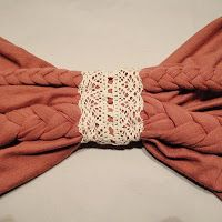 nette: Braided Layered Scarf with Lace Neck
