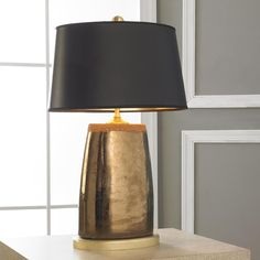 Mixed Metallics Oval Table Lamp Put The Pedal To Metal And Ramp Up Your Interior