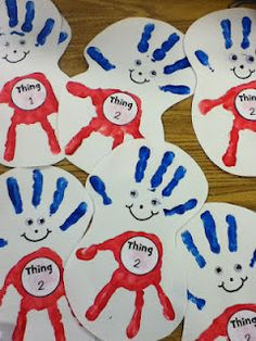 Dr. Seuss Ideas...too cute...I'm so doing thing art activity this summer