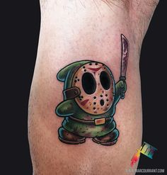 Shy Guy Jason Mashup by me Marc Durrant at MD Tattoo Studio in Northridge CA.