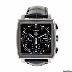 TAG Heuer Monaco CW2111-0 - Gents - V49YKR Monaco Tag Heuer, Omega Watch, Watches, Tags, Accessories, Wristwatches, Clock, Ornament