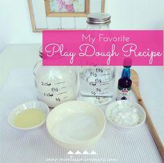 Montessori on Mars: My Favorite Play Dough Recipe