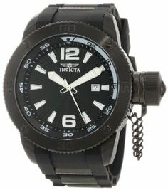 Invicta Men's 12966 I-Force Black Textured Dial Black Polyurethane Watch Invicta. $112.86. Mineral crystal; black ion-plated stainless steel case; black polyurethane strap with black ion-plated stainless steel barrel accents. Date window at 3:00. Swiss quartz movement. Water-resistant to 50 M (165 feet). Black textured dial with silver tone and white hands, hour markers and Arabic numerals; luminous; secured screw-down black ion-plated stainless steel cap on crown