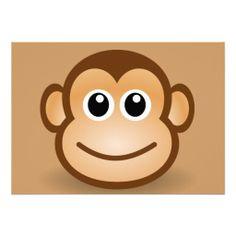 76-Free-Cute-Cartoon-Monkey-Clipart-Illustration Personalized Invite
