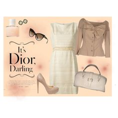 #Dior by adel-en on Polyvore featuring Christian Dior, Steve Madden and Vintage